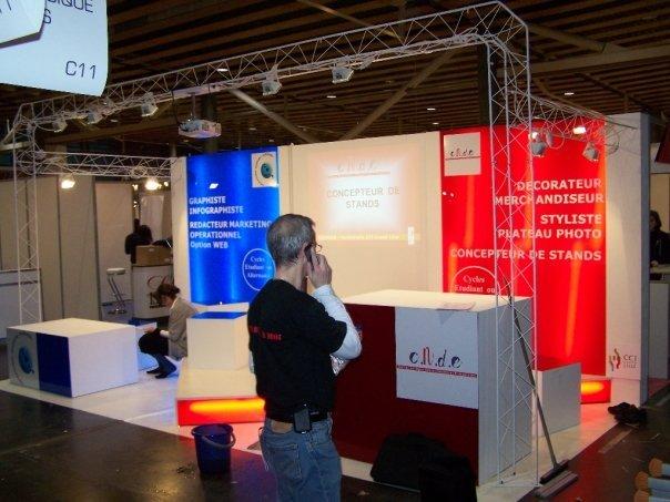 Stand salon de l etudiant 2009 et 2010 ev nementiel et d coration for Stand evenementiel salon